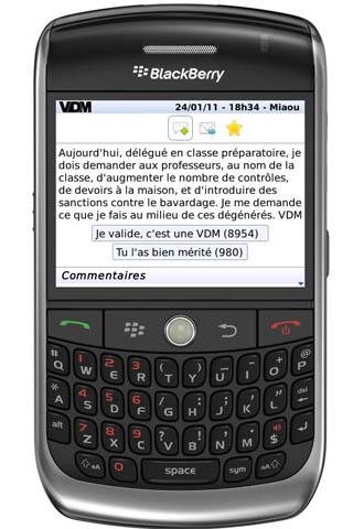 VDM pour BlackBerry
